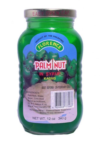 Palm Nut in syrup - Kaong (green)